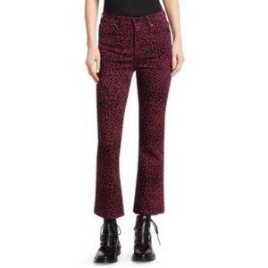 NEW Rag & Bone Hana Leopard Velvet Flare Jeans